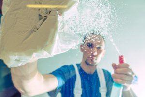 trabajadores de la limpieza