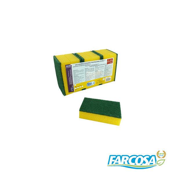 ESPONJA+FIBRA VERDE 8X12CM PACK 6U